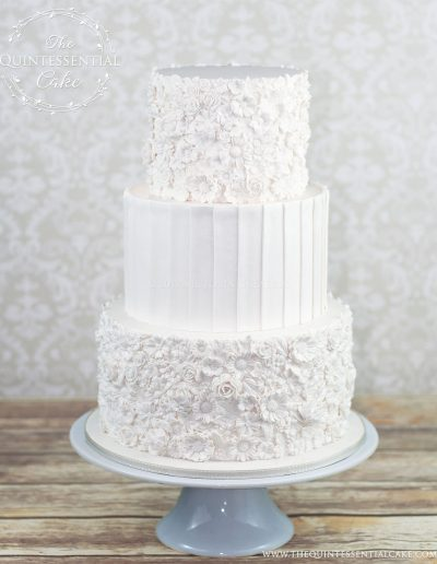 Bas Relief Wedding Cake | The Quintessential Cake | Chicago | Luxury Wedding Cakes