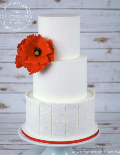 Poppy Wedding Cake | The Quintessential Cake | Chicago | Luxury Wedding Cakes